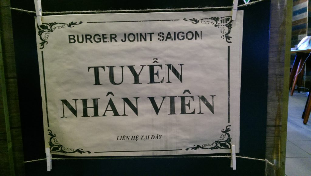 Burger Joint Saigon