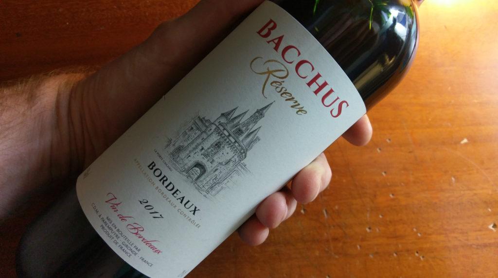 Bacchus Reserve: Vin de Bordeaux 2017
